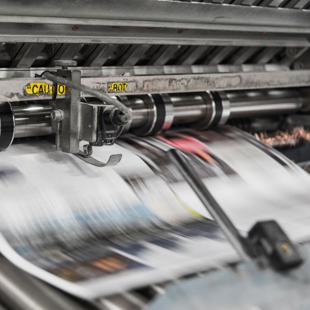 Druckermaschine für Pressedruck